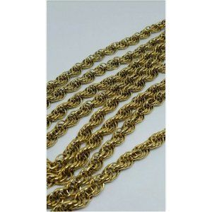 Vintage Monet Gold Tone Chunky Twisted Necklace